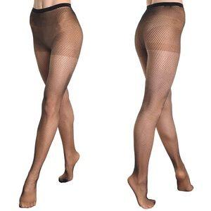 NWT Angelina Fishnet Pantyhose with Spandex Black